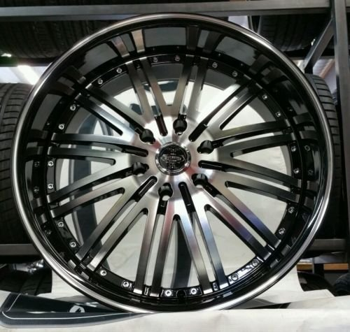 22″ INCH VERSANTE VE212 WHEELS RIMS & TIRES PACKAGE FIT CHEVY GMC CADILLAC