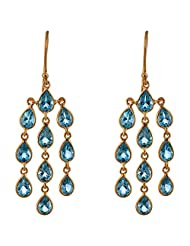 Designers Jewelry Yellow Gold Plated .925 Sterling Silver Earrings For Women - B00R36OIT8
