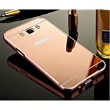 D-kandy Aluminum Metal Bumper With PC Mirror Back Cover Case For Samsung Galaxy New J7 2016 / J710 - ROSE GOLD