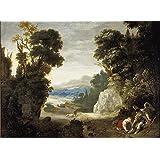 Vitalwalls Landscape Painting (Classical-004-45, Canvas Print, 45 Cm X 34 Cm)