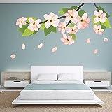 DeStudio Corner Floral, Multi Color, Wall Stickers (Wall Covering Area : 120cm X 70cm)-11381