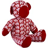 Cloth/Fabric Teddy Bear Baby In Hand Block Printed Fabric