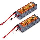 2 Packs FLOUREON® 30C 2S 5200mAh 7.4 Hard Case LiPO Battery Li-Polymer RC Battery Pack With Deans C