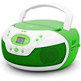 Unbranded Tyler Portable Neon Green Stereo CD Player With AM/FM Radio And Aux & Headphone Jack Line-In (TAU105...