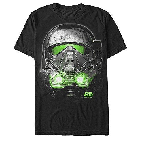 Star Wars Rogue One Death Trooper Helmet Glow Print Mens Graphic T Shirt