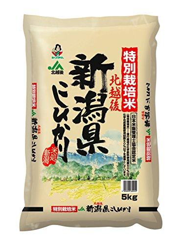 【精米】新潟県北越後産 特別栽培米白米こしひかり5kg平成27年産