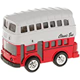 Magideal Model Double-decker Bus Pull Back Car Educational Toy Kids Gift-Red