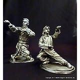 Hung Gar Kung Fu 2-Pack Leopard/Dragon Figurine (Antique Finished Pewter)