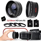 Superb 52 58mm Wide Angle Lens With Macro 52 58mm 2 X Telephoto Lens Kit Fits All 52mm NIKON Lenses For NIKON...