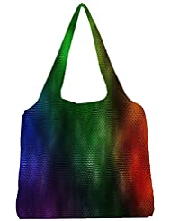 Snoogg Color Design 2370 Womens Jhola Shape Tote Bag