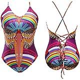 Phenovo Sexy Womens One-Piece Swimwear Push Up Bikini Beach Padded Swimsuit S