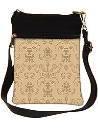 Snoogg Silver Pattern Cross Body Tote Bag / Shoulder Sling Carry Bag