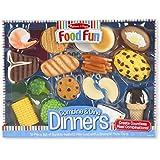 Melissa 26 Doug Melissa & Doug Food Fun Combine & Dine Dinners Toy, Blue
