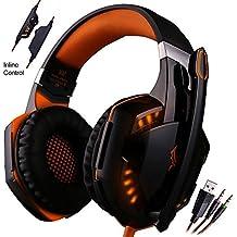 Mictech G2000 Professional 3.5mm PC LED Light Gaming Bass Stereo Noise Isolation Over-ear Headset Headphone Earphones...