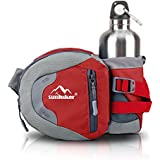 Outdoor Waist Bag, Sunhiker Sports Water Resistant Waist Pack With Water Bottle (Not Included) Holder, Running...