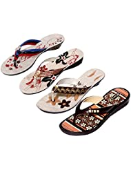 Krocs Super Comfortable Combo Pack Of 3 Pair Flip Flop With 1 Pair Slippers For Women (Pack Of 4 Pair) - B01JSF3CL6