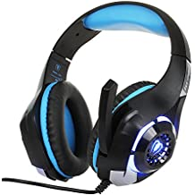 Beexcellent Gaming Headset Over-Ear Headphones For PS4 PC Xbox One Laptop Tablet Mobile Phones GM-1 (Blue)