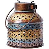 CraftedIndia Vintage Lantern Candle Holder For Home Decor