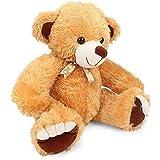 Mahavir Toys Sitting Teddy Bear Soft Toy (Light Brown)