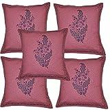 Handmade Home Decor Hand Block Print Work Indian Cotton Cushion Cover Set 16 X 16 Inches