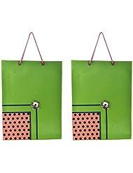Richa Kriti Handmade Paper Reusable Shopper Bag (Green)