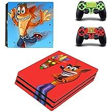 Hytech Plus Crash Bandicoot Super Retro Ultra Edition Theme Sticker For PS4 PRO Console & 2 Controllers