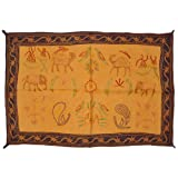 Home Decor Embroidery Work Cotton Wall Hanging Tapestry 24 By 36 Inches - B00KRZNOHO
