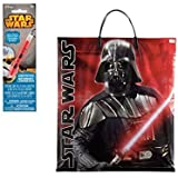 Star Wars Darth Vader Gift / Loot Bag With Star Wars Glow Stick Bundle
