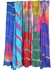 PMS Pure Cotton Handmade Tye Dye Woman Duppata Combo Pack Of 5 Multi Color