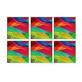 Leaf Designs Multicoloured Waves Coaster - Set Of 6
