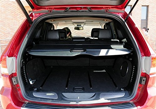 Danti Black Retractable Rear Trunk Cargo Luggage Security Shade Cover Shield for Jeep Grand Cherokee 2011 2012 2013 2014 2015 2016
