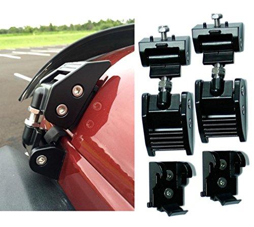E-cowlboy Latest Upgrade Version Aluminum Kit Assembly Locking Hood Catch Black Hood Lock Set – Pair for Jeep Wrangler Jk & Unlimited 2007-2016 2dr & 4dr (Black)