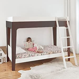 linon home decor bunk bed new perch bunk bed in white amp walnut linon home decor 12987