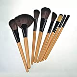 Boboshop Professional Makeup Brush Set With Premium Synthetic Hair, Best Wood Cosmetic Brushes For Eye, Face And...