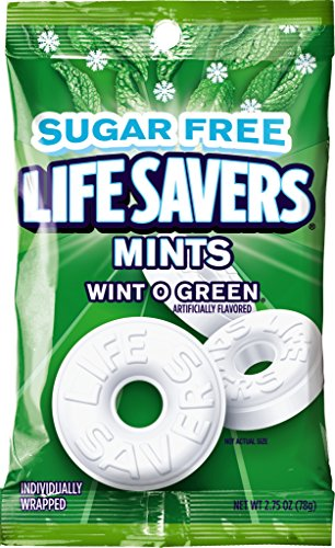 LifeSavers Sugar Free Wint-O-Green Hard Candy, 2.75-Ounce Bags, (Pack of 12)
