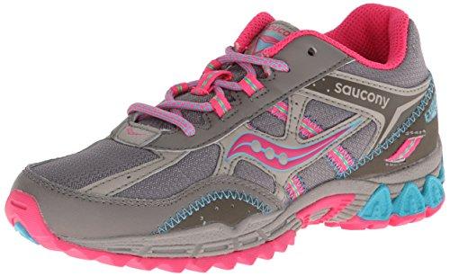 Saucony Girls Excursion Running Shoe ,Grey/Pink,4 M US Big K