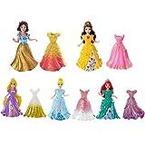Disney Princess Little Kingdom MagiClip Doll Set Of 5 - Snow White, Ariel, Belle, Rapunzel & Cindere