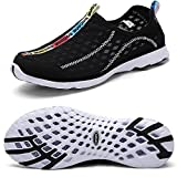 QANSI Men's Breathable sailing up Water Shoes Quick Dry Aqua Trainers