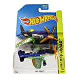 Hot Wheels 2014 Hw Off Road Daredevils Blue Mad Propz Airplane 124/250