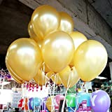 TOOGOO(R) 100pcs 10 inch Pearl Latex Balloon Celebration Party Wedding Birthday (Gold)
