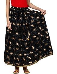 Saadgi Rajasthani Hand Block Printed Handcrafted Ethnic Lehnga Skirt For Women/Girls - B06XGHYXMZ