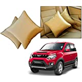 Car Vastra Cushion Pillow Set Beige Color For Car & Home For - Mahindra Nuvo Sport