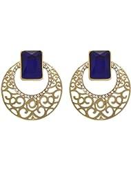 JFL - Bold & Beautiful Austrian Diamond Designer Earrings With Intricate Jali Work