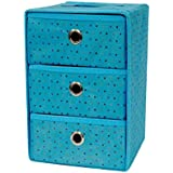 Krevia Brand New 1 Pcs Folding 3 Drawer Vertical Fabric Storage Box Organizer Boxes For Clothing Jewelry Ex (Colour...