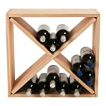 24 Bottle Compact Cellar Cube Wine Rack -Natural