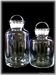 large glass kitchen storage jars set of 2 large glass kitchen canisters storage jars 8889