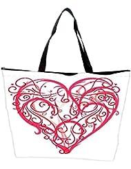 Snoogg Abstract Heart Vector Waterproof Bag Made Of High Strength Nylon