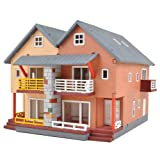 3D Wood Craft Puzzle Kit - Building Series - Duplex House -Made in Korea