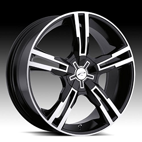 Platinum Saber 16 Black Wheel / Rim 5×110 & 5×115 with a 42mm Offset and a 73 Hub Bore. Partnumber 292-6710B