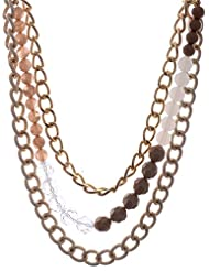 Amaira Jewels Gold Plated Multi-Strand Necklace For Women - B0133G8Y6E